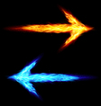 Two fire arrows vector image
