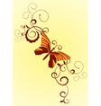 decorative vector orange butterfly vector image vector image