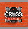 Retro styled crosstraining emblem vector image
