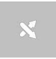 crossing arrow computer symbol vector image