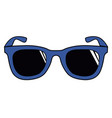 isolated colored sunglasses vector image