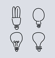 light bulb lamp vector image
