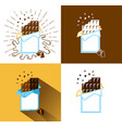 set of icons with chocolate vector image