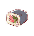 sushi roll isolated icon vector image