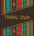 tribal style design in brown colors vector image