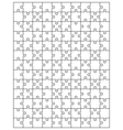 white puzzle 5 vector image