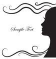 Abstract silhouette of a girl in profile vector image