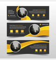 yellow circle corporate business banner template vector image