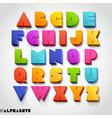3D alphabet colorful font vector image vector image