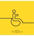 Symbol man on the wheelchair vector image