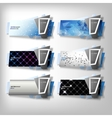 Big Infographic banners set origami styled vector image