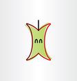 eaten apple icon design vector image