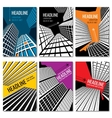 Skyscrapers and urban landscape design Business vector image
