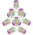 abstract tree made from cute flowers vector image