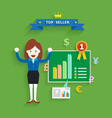 Business concept of top seller vector image