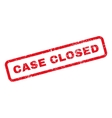 Case Closed Text Rubber Stamp vector image