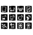 Mobile Icons vector image