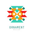 ornament logo design colorful template for label vector image