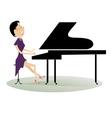 Pianist woman vector image