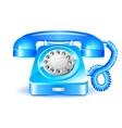 Retro blue telephone vector image
