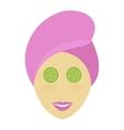 Spa girl face mask vector image