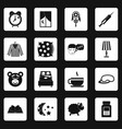 sleep icons set squares vector image