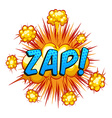 Zap vector image
