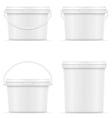plastic bucket for paint 08 vector image