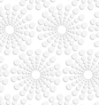 Geometrical pattern with white dotted concentric vector image