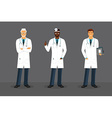 Man doctor in various poses vector image
