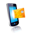 mobile and credit card vector image vector image