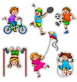 active kids vector image