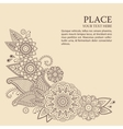 Beautiful floral elements in indian mehndi vector image
