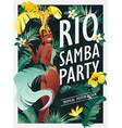 brazilian samba dancer carnival in rio de janeiro vector image