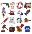 Comics Decorative Elements Set vector image