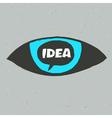 eye idea poster vector image