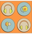 Headphone icons vector image