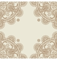 Indian paisley boho floral corners frame vector image