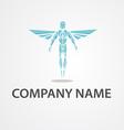 Logo flying man vector image
