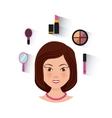 make up set flat icons vector image