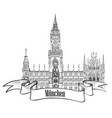 munich famous city palace with tower rathause vector image