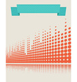 musical background retro vector image