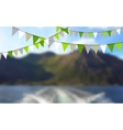 Party flags celebrate abstract background and vector image