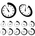 round black timer icons vector image