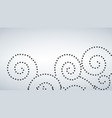 seamless curly dot pattern white background vector image