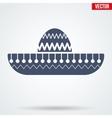Sombrero Mexican hat symbol vector image