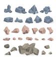 stone rock rockstone of rocky mountain in vector image