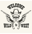 Welcome to Wild West Emblem vector image