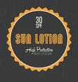 Sun Lotion Design vector image