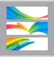 set banners of curved multicolored elements vector image